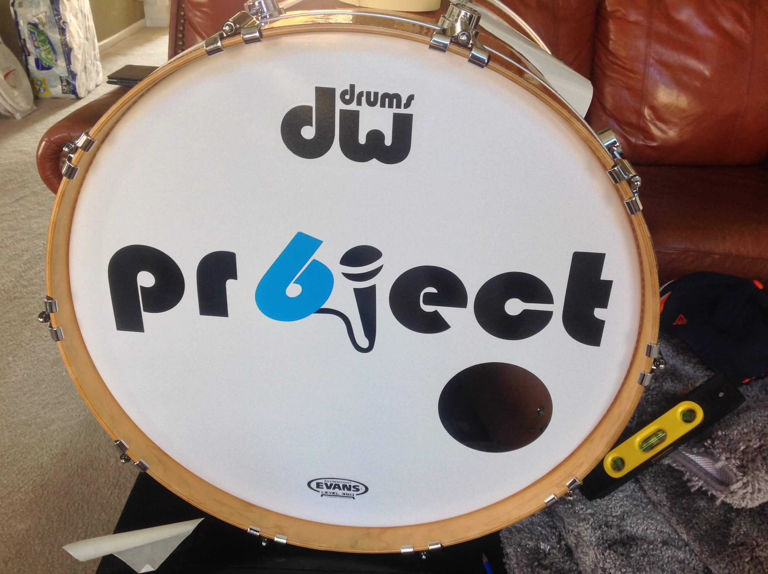 Project 6, drum decal, kick drum decals, drum stickers, custom, great prices, die-cut, die cut vinyl decals, music band, promotion