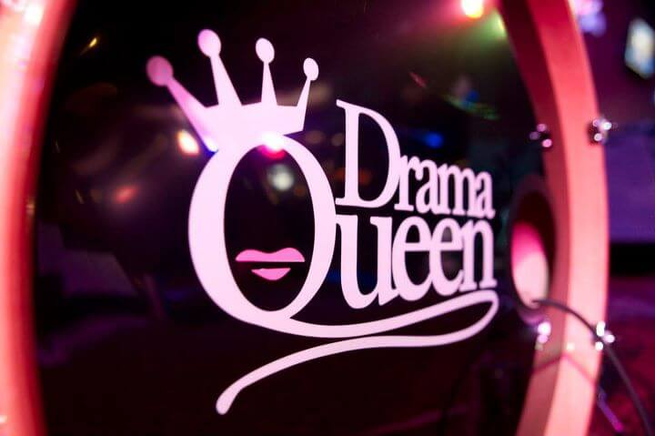 Drama Queen, Bass drum decals, kick drum decals, drum stickers, sale, cheap price, die-cut, die cut vinyl decals, music bands, local band