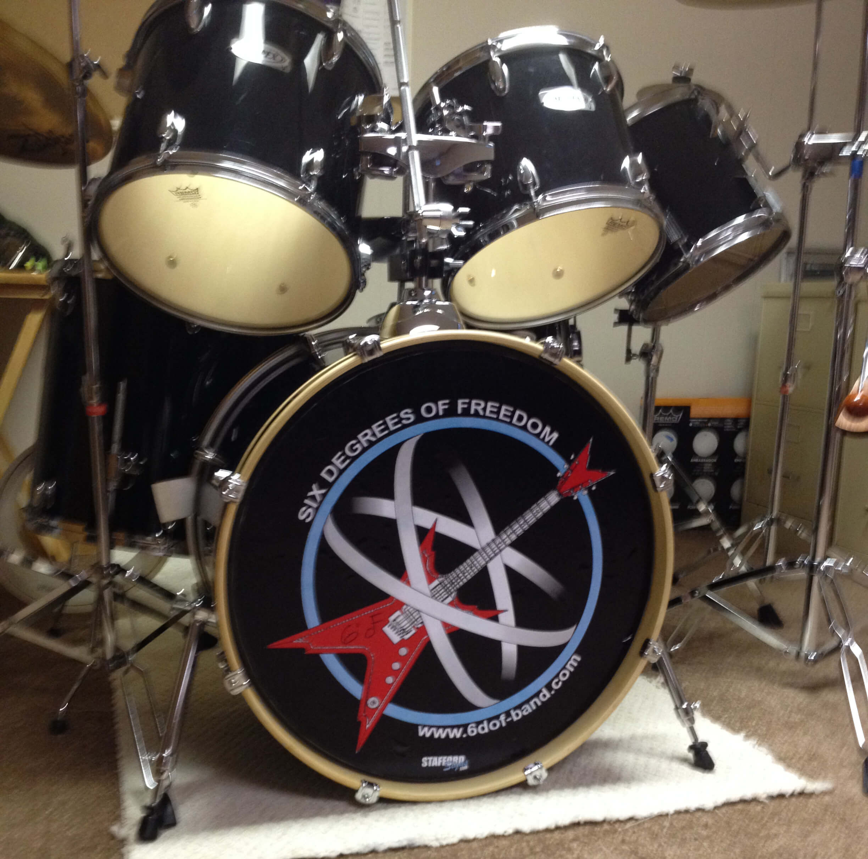 Pearl bass drum decal satu sticker for Yamaha bass drum decal